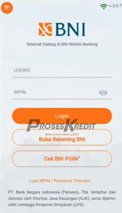 1. Buka aplikasi BNI Mobile Banking