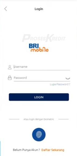 1. Silahkan Login ke aplikasi Mobile Banking BRI masukkan User Id dan password klik