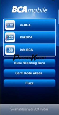 1. Silahkan masuk ke Mobile Banking BCA milik anda