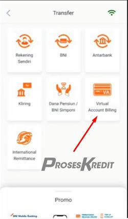 3. Pada menu berikutnya pilih Virtual Account Billing