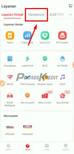 3. Selanjutnya pilih menu Handphone