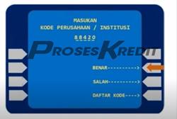 4. Input kode perusahaan Home Credit