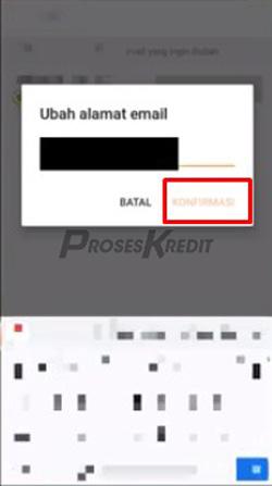 6. Silahkan isi alamat email