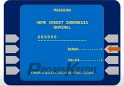 6. Silahkan masukkan nominal tagihan
