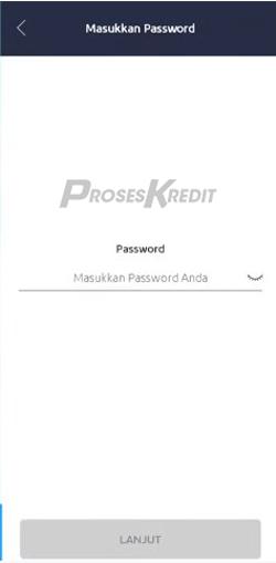 7. Masukkan Password anda