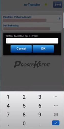 8. Masukkan total tagihan