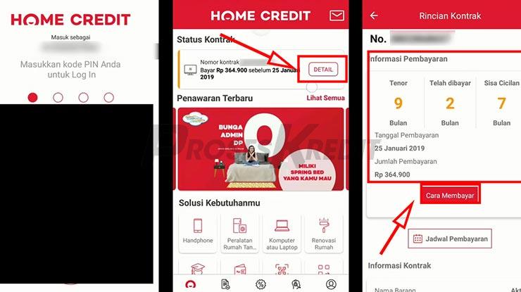 Cara Cek Angsuran Home Credit