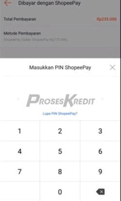 7. Masukkan PIN Shopeepay