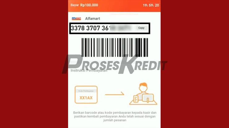 Muncul Kode Pembayaran