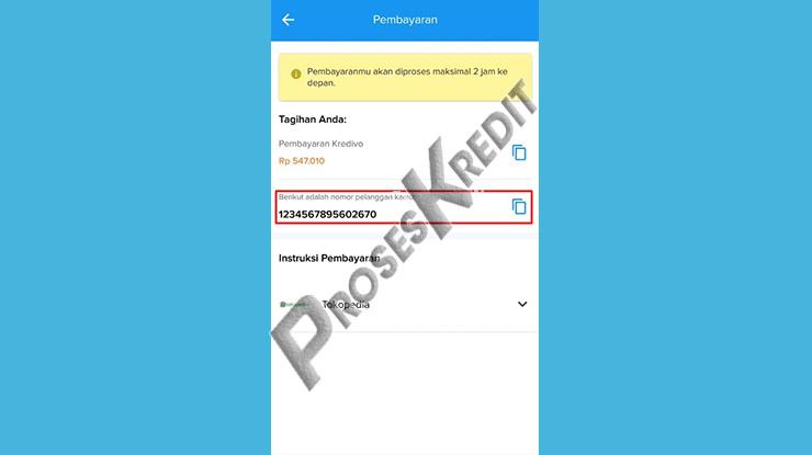 Copy Nomor Virtual Account