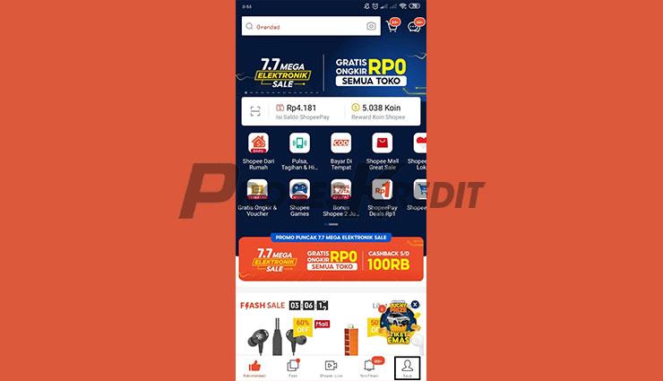 Jalankan Aplikasi Shopee 1