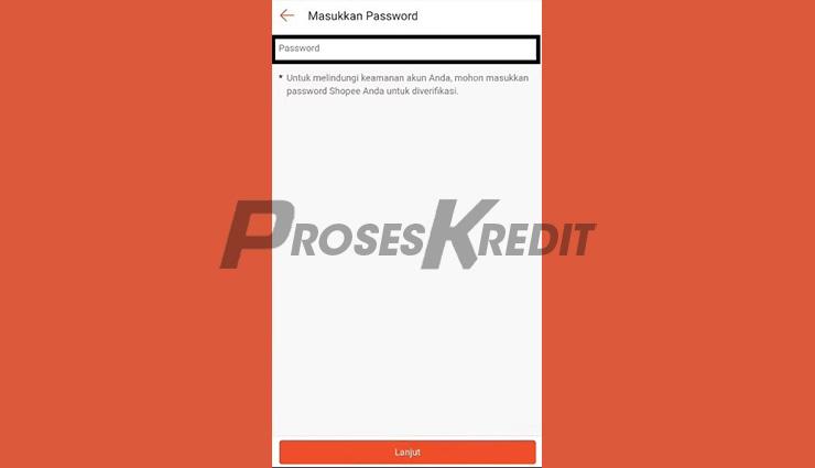 Masukkan Password Shopee