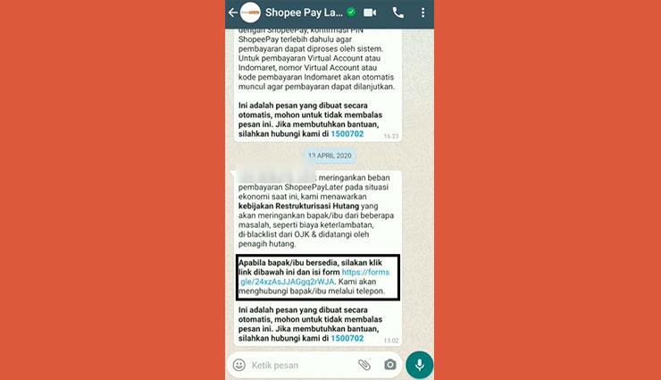 Syarat Melakukan Restrukturisasi Tagihan Shopee PayLater