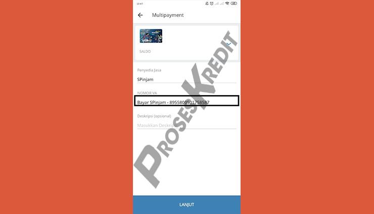 Tempelkan Nomor Virtual Account