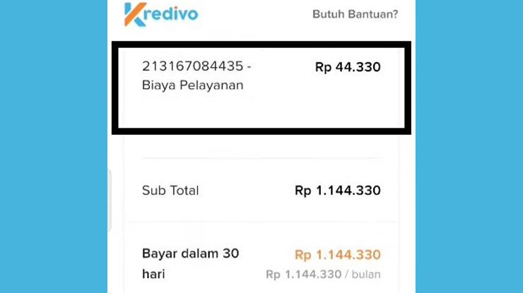 Biaya Layanan Transfer Kredivo ke DANA