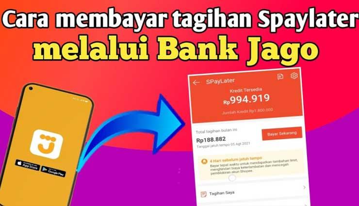 Cara Bayar Shopee PayLater Lewat Bank Jago