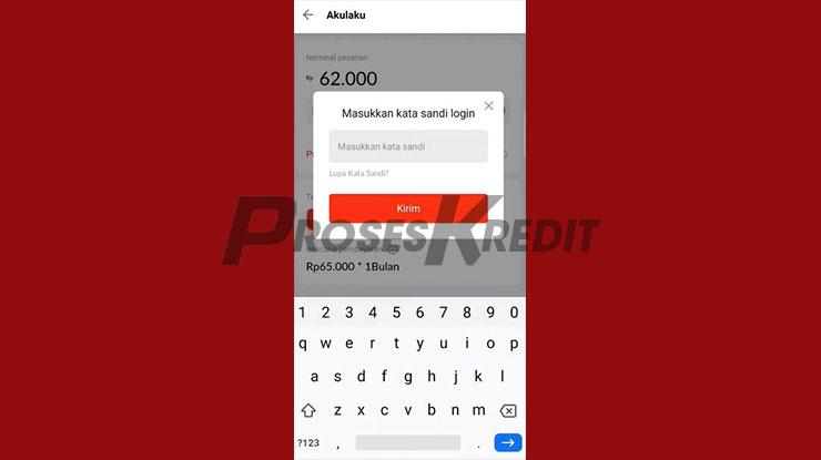 Input Password Akulaku