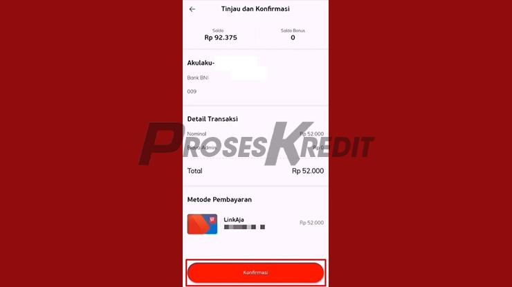 Konfirmasi Pembayaran Akulaku via LinkAja