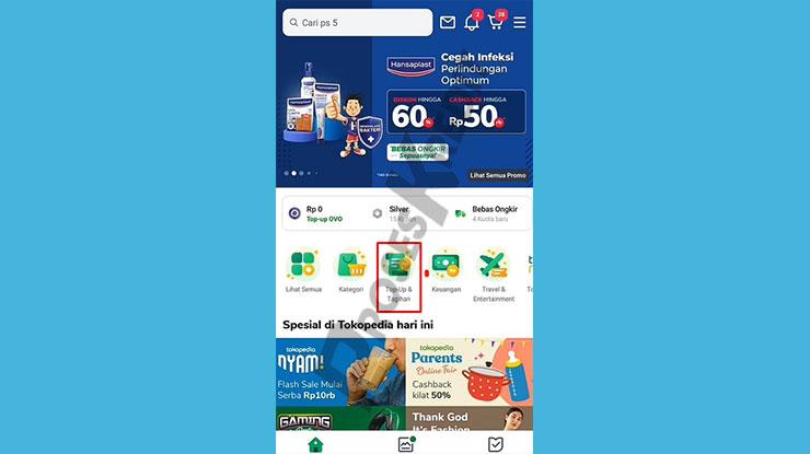 Masuk ke Aplikasi Tokopedia