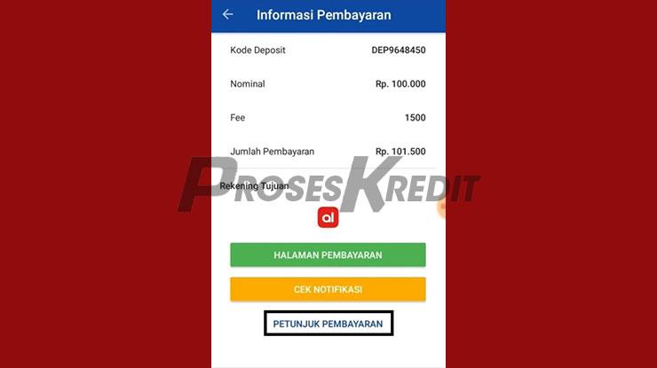 Muncul Informasi Pembayaran
