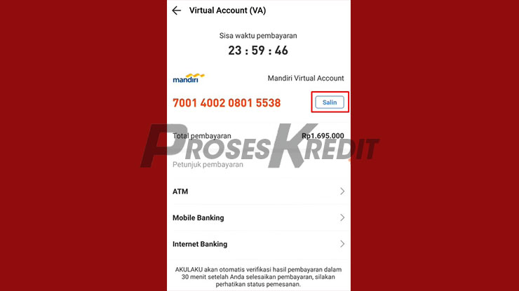 Salin Nomor Virtual Account