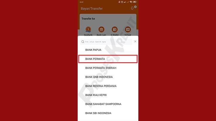 Pilih Bank Permata