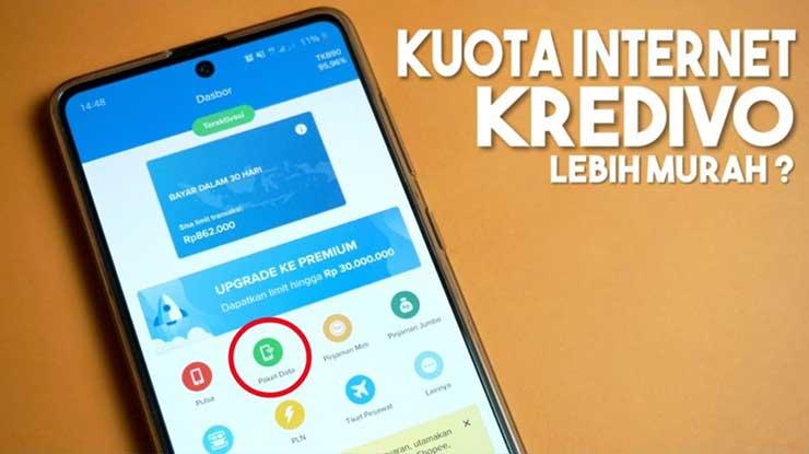Biaya Layanan Top Up Kuota Internet via Kredivo
